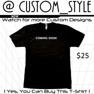 New T-shirt custom design 'Coming Soon'